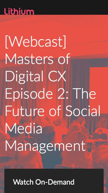 [Webcast] Masters of Digital CX Episode 2: The Future of Social Media Management