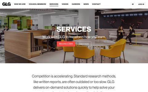 Screenshot of Services Page glg.it - Engage With Us               | GLG - captured May 20, 2017
