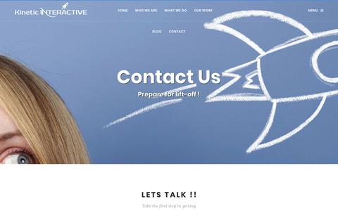 Screenshot of Contact Page kinetic-interactive.com captured Sept. 20, 2018