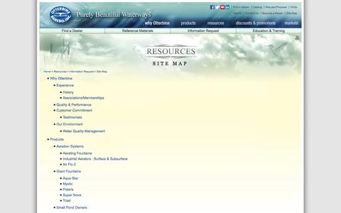 Screenshot of Site Map Page otterbine.com - Site Map - captured Oct. 26, 2014