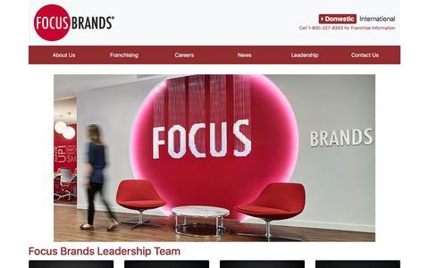 Screenshot of Team Page focusbrands.com - Focus Brands - captured Aug. 9, 2018