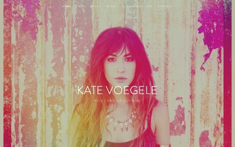 Screenshot of Home Page katevoegele.com - Kate Voegele - captured Oct. 10, 2015