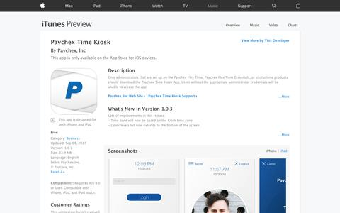 Paychex Time Kiosk on the App Store