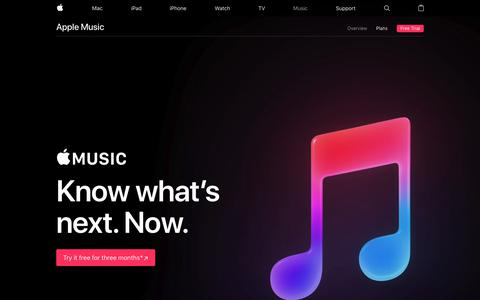Screenshot of apple.com - Apple Music - Apple - captured Sept. 18, 2017