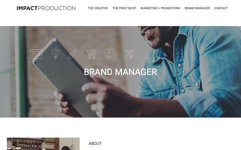 Screenshot of About Page Pricing Page impactproductionla.com - BRAND MANAGER | Impact Production - captured Oct. 11, 2018