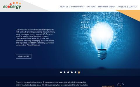 Screenshot of Home Page econergytech.com - Home - Econergy Systems Ltd. - captured July 15, 2017