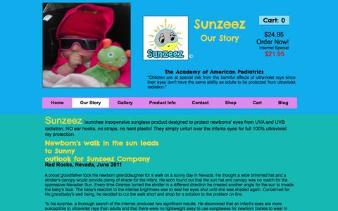 Screenshot of About Page sunzeez.com - Sunzeez | Baby Sunglasses - captured Dec. 11, 2016