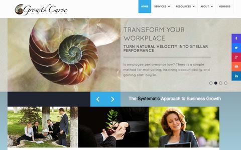 Screenshot of Home Page sustainablebusinessgrowth.com - Growth Curve Institute - captured Sept. 19, 2014