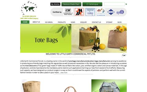 Screenshot of Home Page littleearthgroup.com - Buy Online Bags from Jute Bags Manufacturers and Supplier - captured June 17, 2015