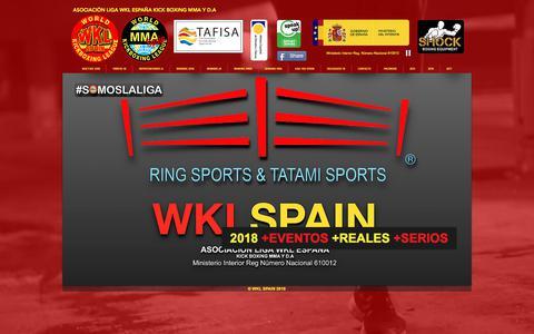 Screenshot of Home Page spainwkl.com - WKL SPAIN - WKL ESPAÑA - captured July 5, 2018