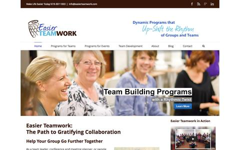 Screenshot of Home Page easierteamwork.com - Unique Team Building Programs with Long-term Effects – Easier Teamwork - captured Jan. 26, 2015