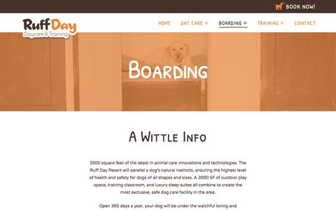 Screenshot of Pricing Page ruffdayresort.com - Dog Boarding | Dog Kennel | Webster NY - Ruff Day Resort - captured July 9, 2018