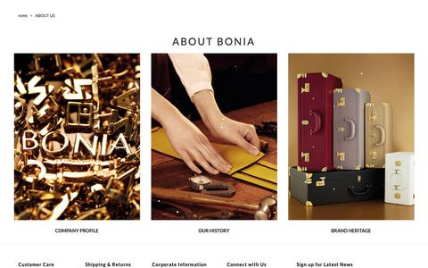 Screenshot of About Page bonia.com - About Us  | Shop Online BONIA - captured Dec. 18, 2018