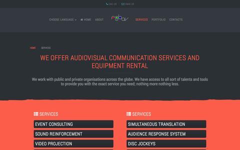 Screenshot of Services Page rgb-av.com - Services   RGB AudioVisual Services - captured Nov. 4, 2014