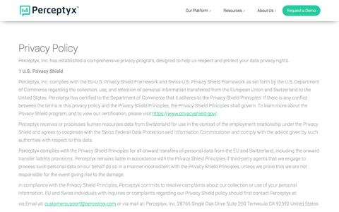 Privacy Policy | Perceptyx, Inc.