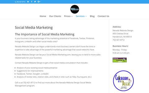 Social Media Marketing | Nevada Website Design | Henderson | Las Vegas