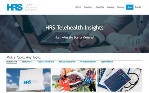 Screenshot of Blog healthrecoverysolutions.com - HRS Blog - captured Aug. 21, 2019