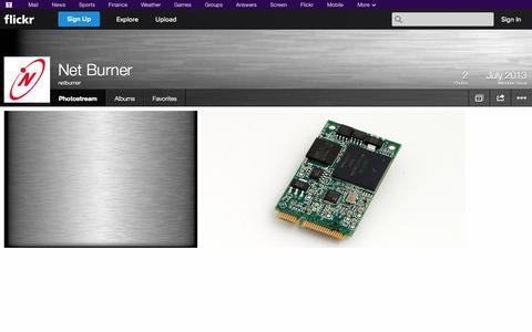 Screenshot of Flickr Page flickr.com - Flickr: netburner's Photostream - captured Oct. 26, 2014