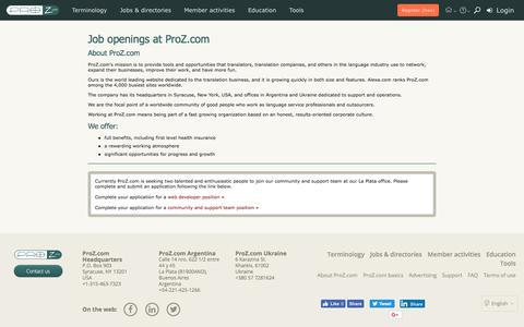 Job openings at ProZ.com