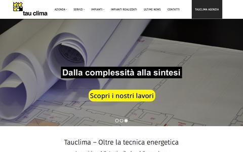 Screenshot of Home Page tauclima.it - Home - Tauclima - Tauclima - captured Feb. 13, 2016
