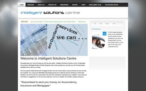Screenshot of Home Page intelligent-solutions-centre.co.uk - Welcome to Intelligent Solutions Centre - captured Oct. 6, 2014