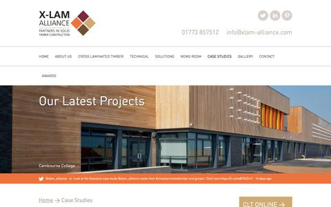 Screenshot of Case Studies Page xlam-alliance.com - Our Latest Projects | X-LAM Alliance | Cross Laminated Timber CLT - captured July 20, 2016