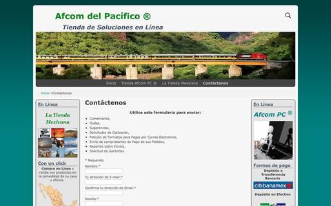 Screenshot of Contact Page afcomdelpacifico.com - Contáctenos - Afcom del Pacífico ® - - captured Oct. 7, 2017