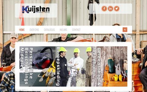 Screenshot of Home Page kuijstenberoepskleding.nl - Kuijsten BeroepsKleding Kuijsten Beroepskleding - captured Sept. 30, 2014