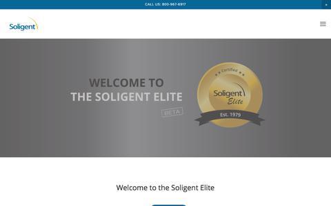 Screenshot of Login Page soligent.net - Login — Soligent - captured Sept. 21, 2018