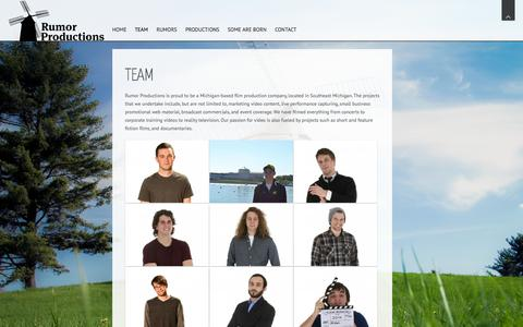 Screenshot of Team Page rumorproductions.net - Team | Rumor Productions, LLC. - captured Oct. 9, 2014