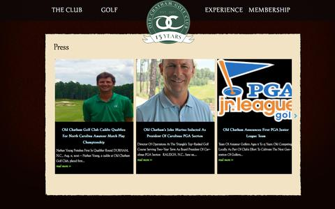 Screenshot of Press Page oldchathamgolf.org - Old Chatham Golf Club News and Press Releases | Old Chatham Golf Club - captured Dec. 6, 2016