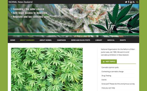 Screenshot of About Page norml.org.nz - About Cannabis – NORML New Zealand - captured Oct. 27, 2017