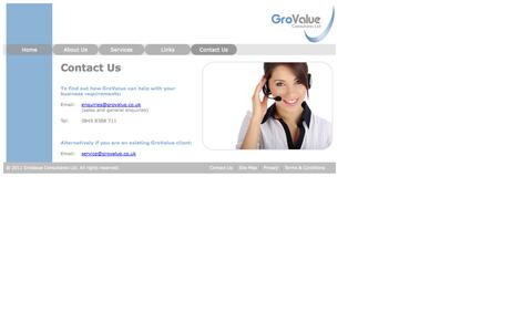 Screenshot of Contact Page grovalue.co.uk - GroValue - Contact Us - captured Oct. 3, 2014