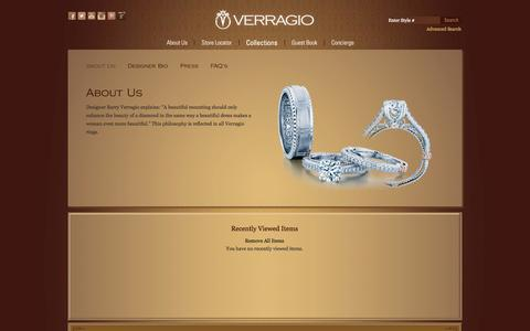 Screenshot of About Page verragio.com - VERRAGIO - About Us - captured Sept. 19, 2014