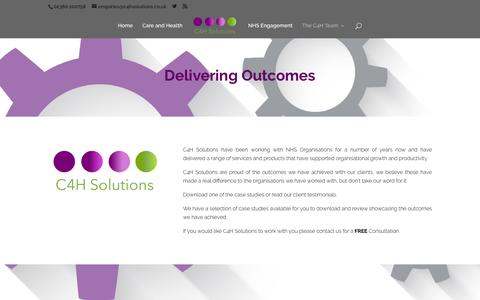 Screenshot of Case Studies Page c4hsolutions.co.uk - Outcomes and Client Case Studies - C4H Solutions - captured July 9, 2016