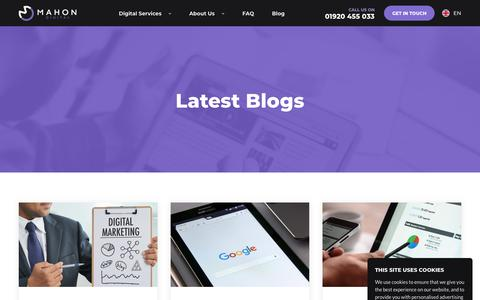 Screenshot of Blog mahondigital.co.uk - Marketing Blog - SEO & PPC articles, advice & news   Mahon Digital - captured Feb. 8, 2020