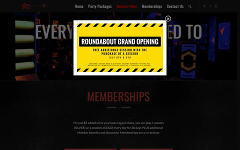 Screenshot of Pricing Page laser-flash.com - Memberships, Pricing & Additional Information | Laser Flash - captured July 16, 2018