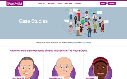 Screenshot of Case Studies Page thehousecrowd.com - The House Crowd :: Case Studies - captured Dec. 16, 2016