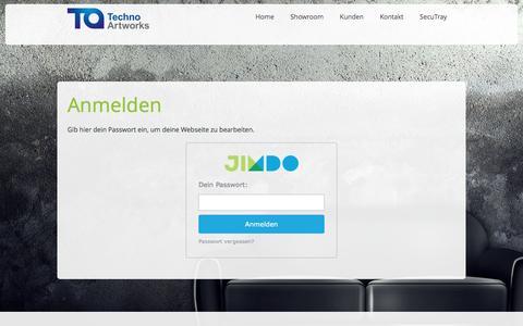 Screenshot of Login Page techno-artworks.eu - Anmelden - Techno Artworks - Die Fullservice Kreativagentur! - captured March 13, 2016