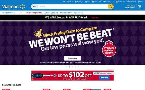 Screenshot of Home Page walmart.com - Walmart.com: Save money. Live better. - captured Nov. 25, 2015