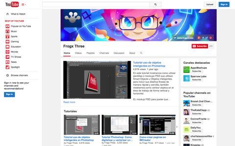 Screenshot of YouTube Page youtube.com - Frogx Three  - YouTube - captured Oct. 23, 2014