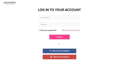 Log in   Scentbird.com