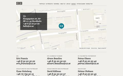 Screenshot of Contact Page c2.se - C2 – Contact - captured Oct. 1, 2014