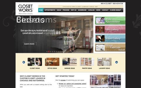 Screenshot of Home Page closetworks.com - Closet Works  Building Chicago's Custom Closets since 1987 - captured Sept. 30, 2014