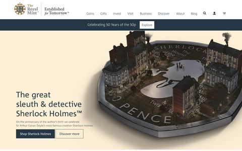 Screenshot of Home Page royalmint.com - The Royal Mint - captured June 14, 2019