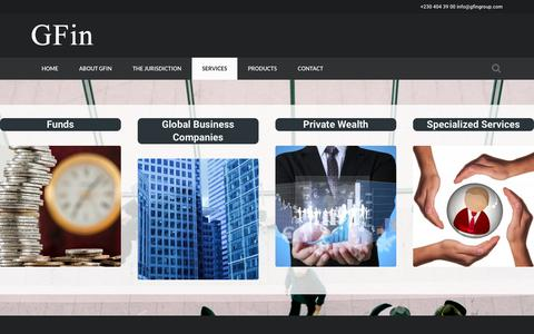 Screenshot of Services Page gfingroup.com - SERVICES | GFIN - captured Oct. 19, 2016