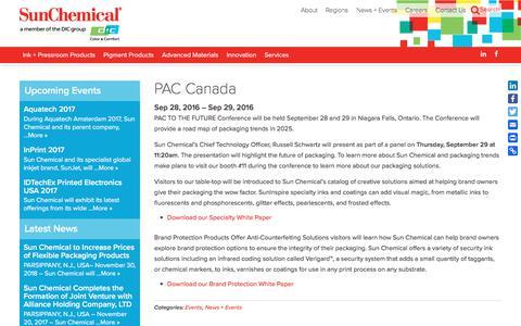 PAC Canada | Sun Chemical