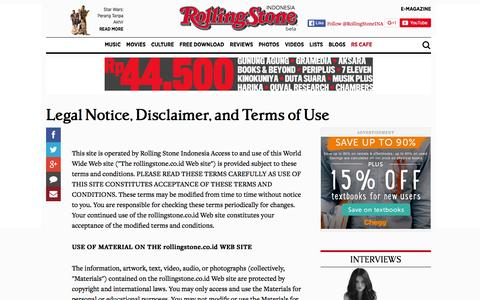 Screenshot of Terms Page rollingstone.co.id - Rolling Stone Indonesia   Music News, Reviews, Photos, Videos, Interviews and More - captured Jan. 19, 2016