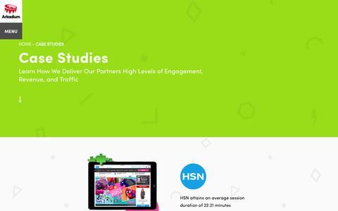 Screenshot of Case Studies Page arkadium.com - Partner Success Stories & Case Studies | Arkadium - captured Nov. 23, 2015
