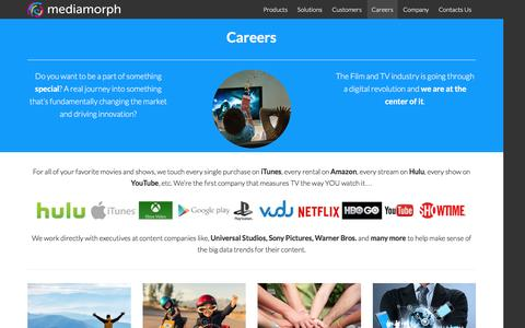 Screenshot of Jobs Page mediamorph.com - Working at Mediamorph - captured Dec. 21, 2015